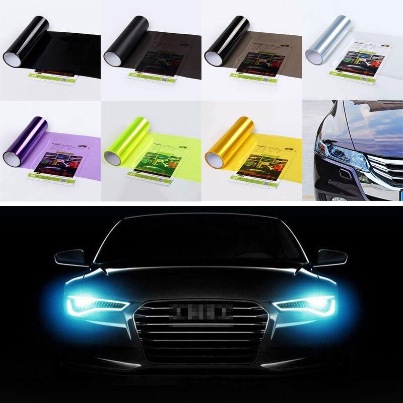 Fog Light Film Taillight Tint Vinyl Film Waterproof Taillight Color-Changing Film Brake Taillights 30CM 30cm*60cm PVC