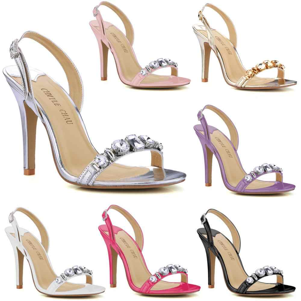 Shoes Thin Heel Back Strap Sandals