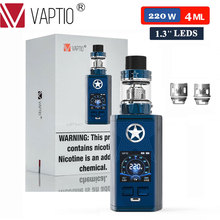 New Vape Box Kit VAPTIO CAPTN 220W Electronic Cigarettes MOD 2.0ml/4ml Atomizer 510 Thread Mod No Battery