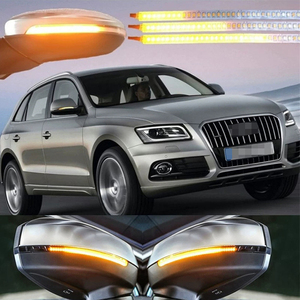 Image 4 - 2Pcs ไฟเลี้ยวคำเตือน Strip Universal รถกระจกมองหลังตัวบ่งชี้โคมไฟลำแสง Strip Auto Flowing LED Light
