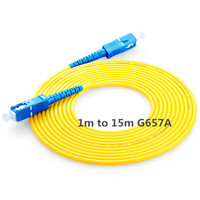 SC UPC Patchcord 1m to 15m optical SC Patch cord 2.0mm PVC G657A Fiber Jumper Simplex SM FTTH Optic Cable SC UPC Connector