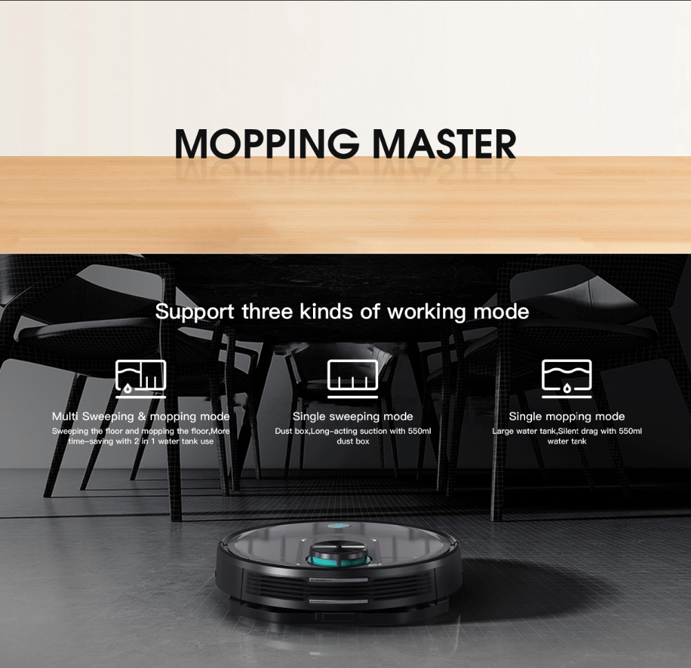 Original VIOMI V2 PRO vacuum cleaner 2100pa LDS strong suction sweeping robot automatic charging LDS laser navigation scanning 2