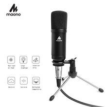 MAONO הקבל פודקאסט מיקרופון 3.5mm Cardioid מחשב מיקרופון עם חצובה Stand עבור YouTube סקייפ שידור הקלטת A03TR