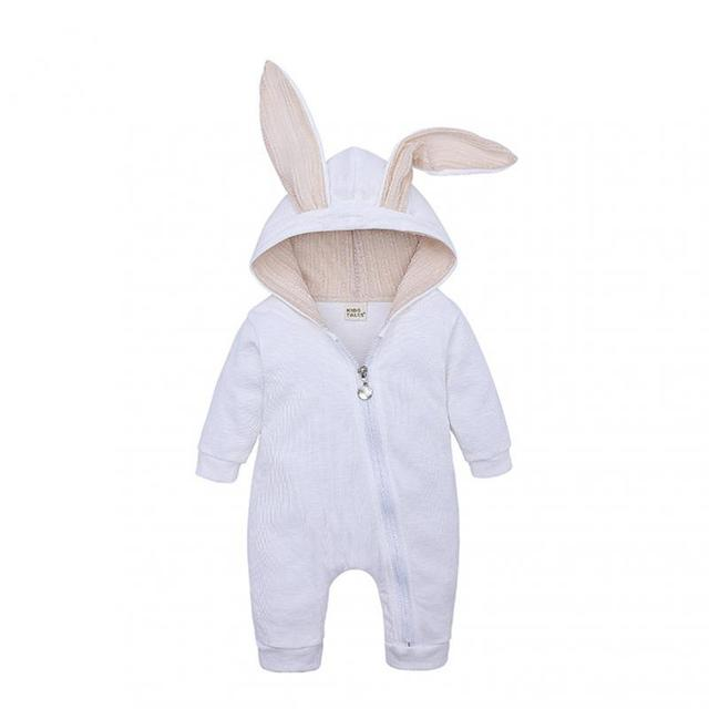 Autumn/Winter Baby And Children's Clothing Onesies For Boys And Girls Infants Baby Rabbit Ears Long-sleeved Clothes Climbing 2
