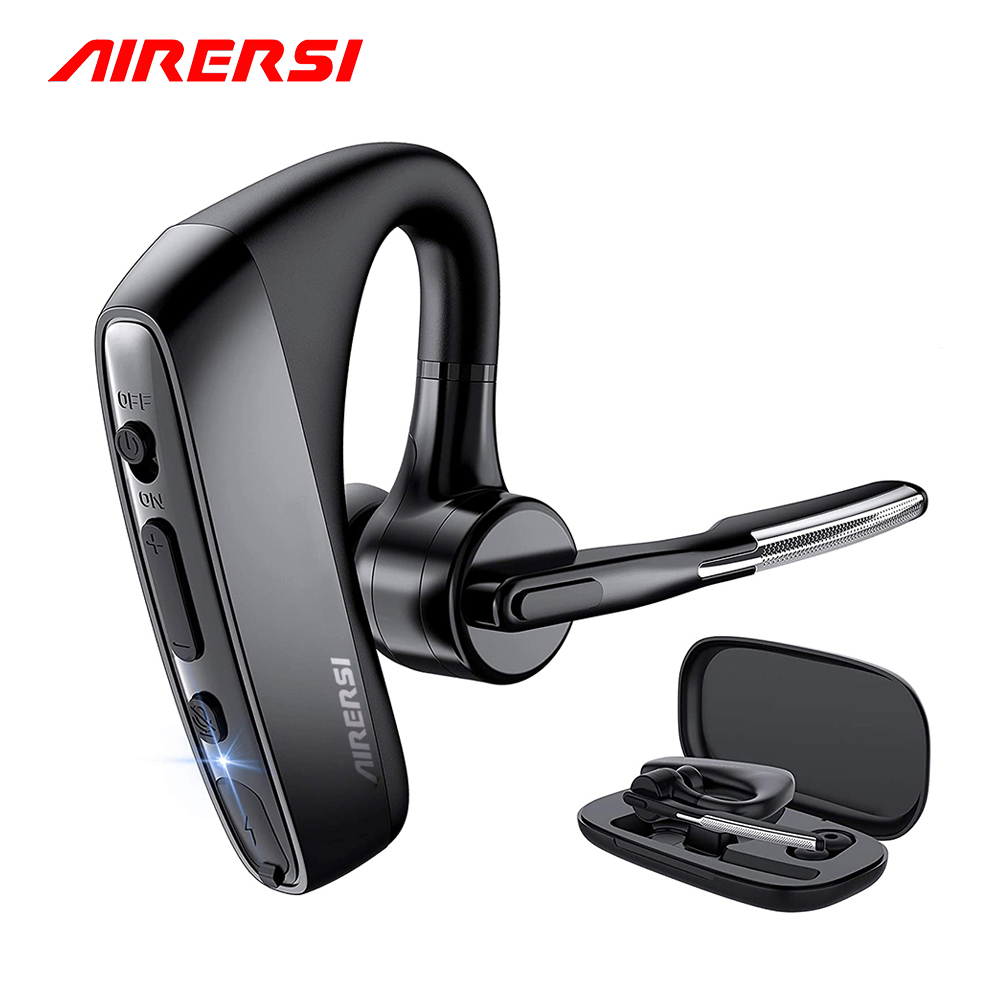 K18 Bluetooth Earphone Wireless Headphones Stereo Handsfree Business Headset With CVC8 Dual Mic Noise Cancelling For All Phones