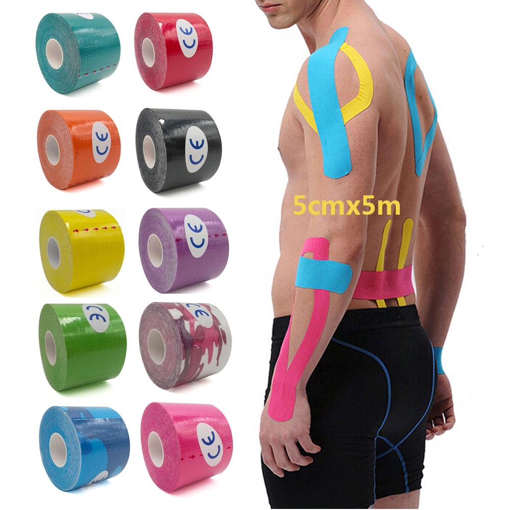5m Kinesiology TapeSports Physio Knee Shoulder Body Muscle Support Fitness UK
