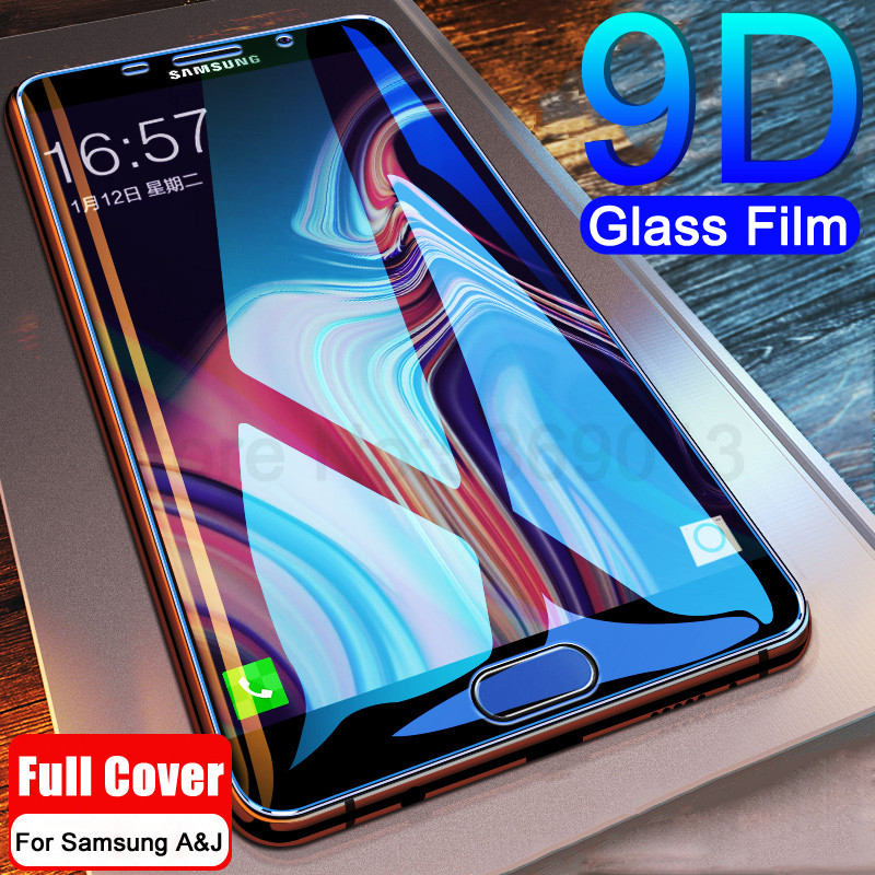 9D Full Cover Tempered Glass on the For <font><b>Samsung</b></font> Galaxy <font><b>A3</b></font> A5 A7 <font><b>2017</b></font> J3 J5 J7 2016 <font><b>2017</b></font> <font><b>Screen</b></font> <font><b>Protector</b></font> Safety Protective Film image