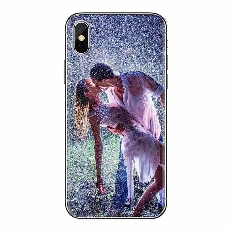 TPU Çanta Kılıf Için Sony Xperia Z Için Z1 Z2 Z3 Z5 kompakt M2 M4 M5 E3 T3 XA Aqua LG g4 G5 G3 G2 Mini Hayat Alıntı Yağmurda Dans Kelimeler