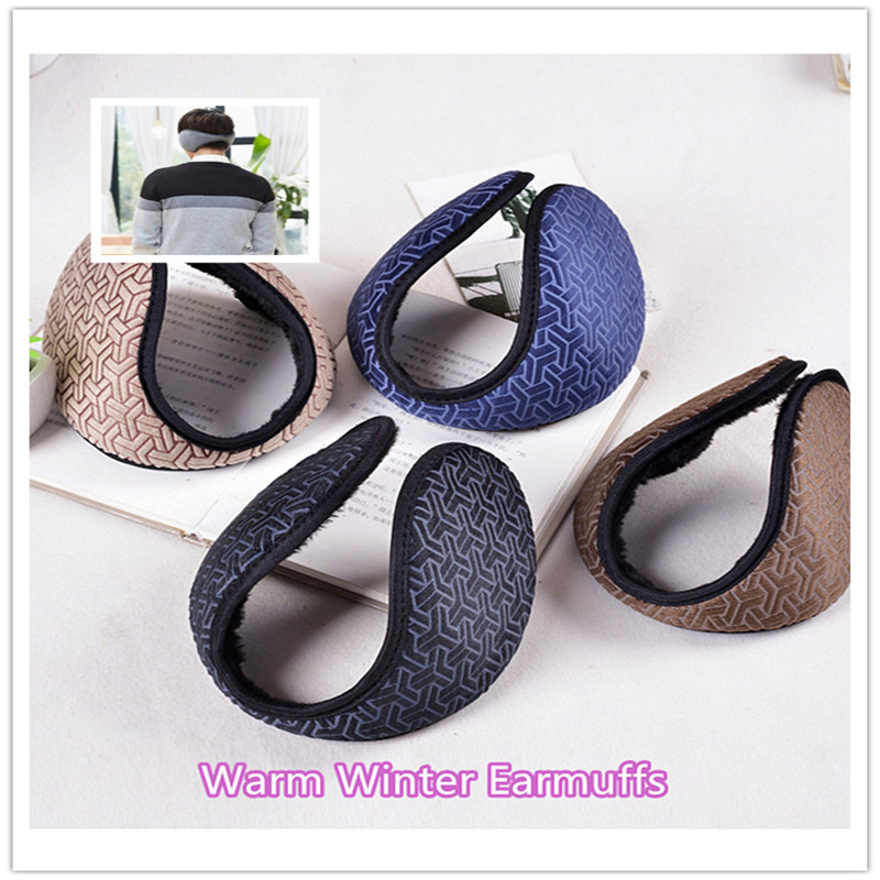 Unisex Solid Winter Earmuffs Women Men Ear Cover Protector Thicken Plush Soft Warm Earmuff Warmer Gift Apparel Accessories 1Pc