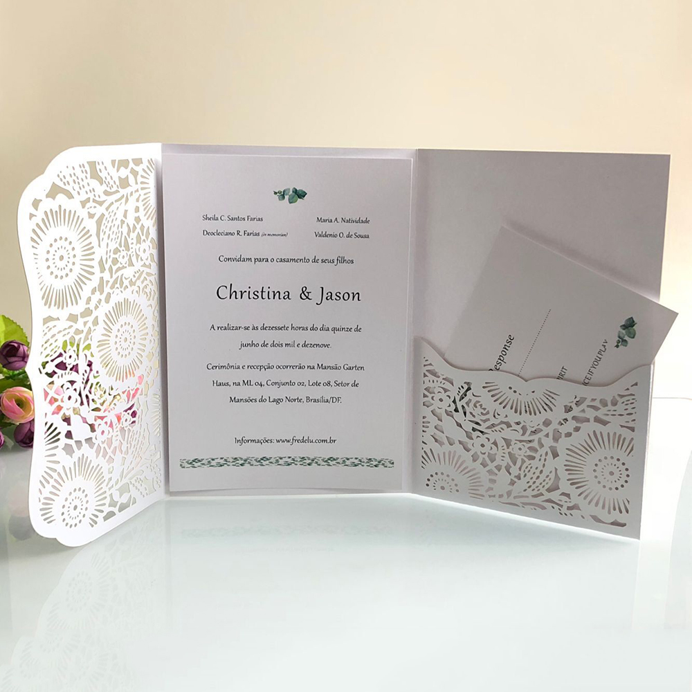 Us 7 26 34 Off 10pcs Elegant Laser Cut Wedding Invitation Cards 18x12 5cm Customize Business Greeting Card Baby Showers Party Supplies On Aliexpress