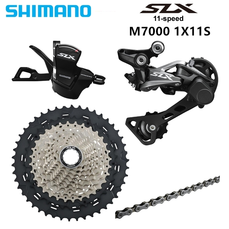 <font><b>Shimano</b></font> <font><b>Slx</b></font> Speed 11 -40 <font><b>M7000</b></font> 1x11 S /42 /46 39d <font><b>Groupset</b></font> Contains Turnlever image