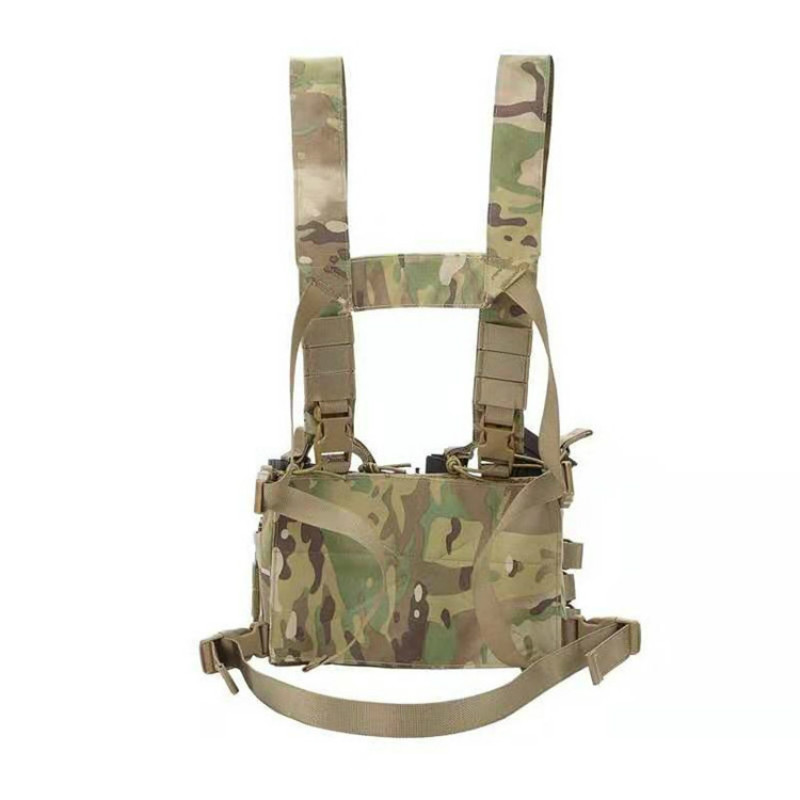 Tactical Chest Rig Tank Top Lightweight Apron D3 Vest MC All-Terrain Camouflage