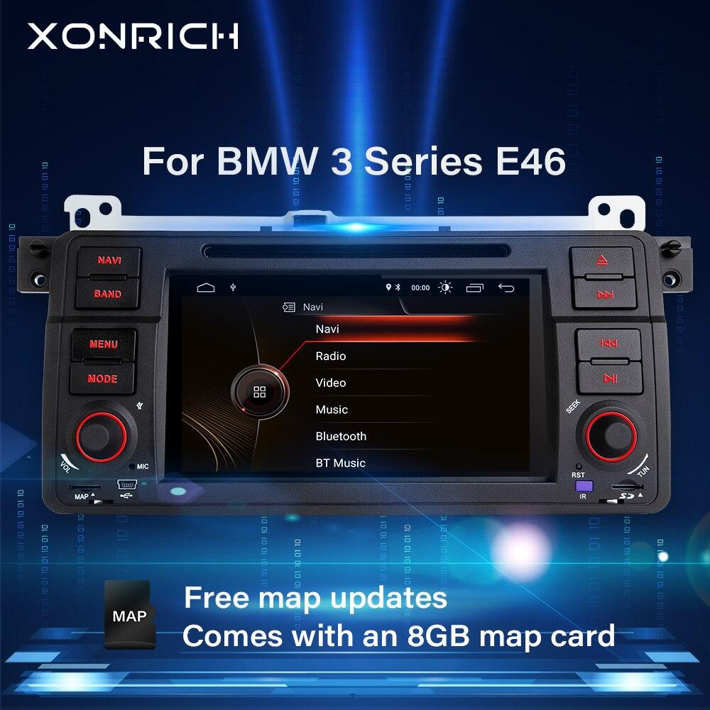 Xonrich1 Din Auto Radio Gps di Navigazione per Bmw E46 M3 Rover 75 Coupe 318/320/325/330 dvd Lettore Multimediale Unità di Testa Stereo Audio