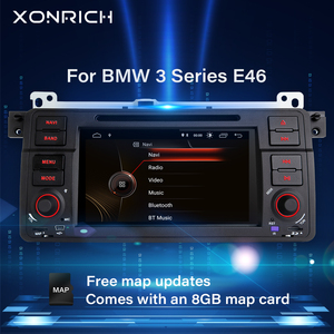 Xonrich1 Din Car Radio GPS Navigation For BMW E46 M3 Rover 75 Coupe 318/320/325/330 DVD Multimedia Player head unit stereo Audio(China)