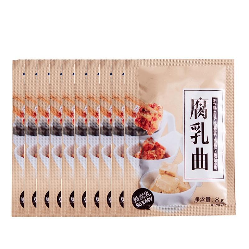 Homemade Fermented Bean Curd, Stinky Tofu, Fermented Soya Beans Koji,  Fermentation , Colony Of Bacteria,10 Bags X 8g