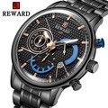 Награда Топ Бренд роскошные новые модные мужские часы с нержавеющей стали спортивный хронограф кварцевые часы для мужчин Relogio Masculino