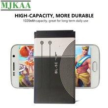 цена на MJKAA 2PCS BL-5C 3.7V 3.8Wh 1020mAh Battery For Nokia 1112 1208 1600 1100 1101 2610 2600 2300 6230 6630 n70 n71 n72 n91 e60 BL5C
