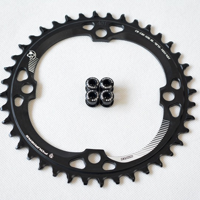 Bike Chainring <font><b>120BCD</b></font> Narrow Wide Circle Single Speed 40T 36T 38T Aluminum Alloy image