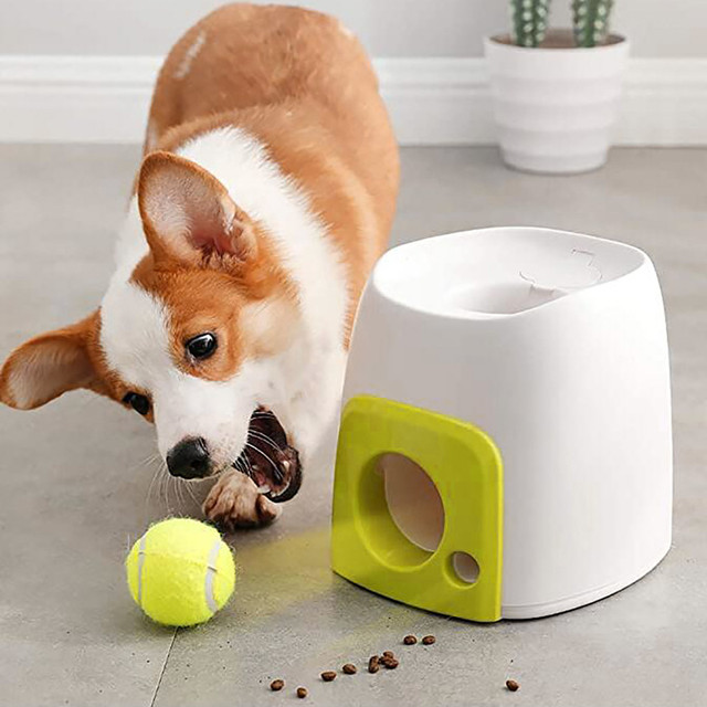 Interactive Toy Dog Training - Funny Tennis Ball Launcher Pet Food Reward Toy 6