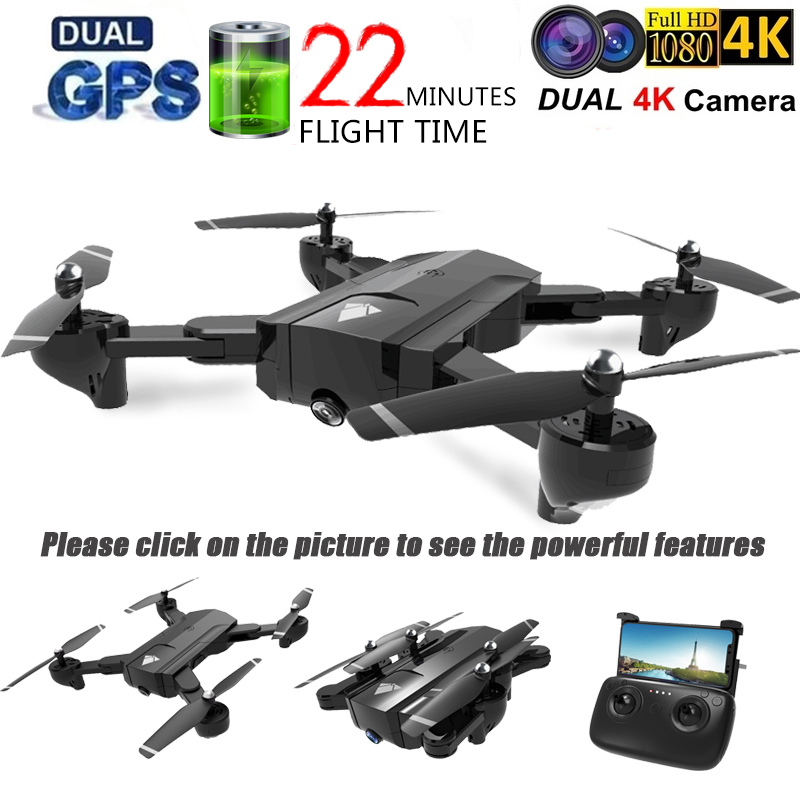 SG900 GPS Wifi RC Drone With 4K HD Dual Camera Follow Me Quadrocopter FPV Professional Drone Long Battery Life Toy Kids SG900S
