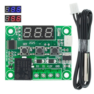 Image 1 - 1 Pcs W1209 Dc 12V Warmte Cool Temp Thermostaat Temperatuur Schakelaar Temperatuurregelaar Thermometer Thermo Controller