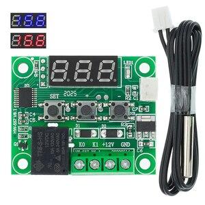 Image 1 - 20PCS W1209 DC 12V חום מגניב טמפ מתג בקרת טמפרטורת בקר טמפרטורת מדחום thermo בקר