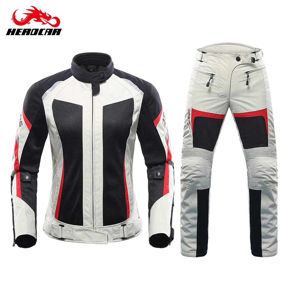 Duhan Motorcycle Jacket Summer Motorcycle Pants Suit Jacket Moto Breathable Mesh Touring Motorbike Clothing Set For Women Pure And Mild Flavor