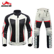 DUHAN Motorcycle Jacket Summer Motorcycle Pants Suit Jacket