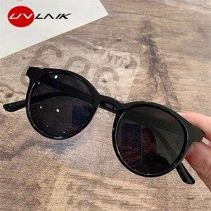 UVLAIK Small Round Sunglasses Women 2020 Brand Designer Vintage Sun Glasses Ladies Shades Eyewear