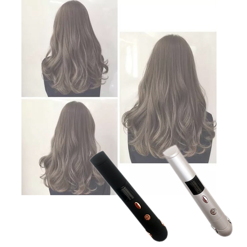 Mini Shape Hair Straightener Curler Power Bank Styler Double Side Fast Heating, Type A(2400Mah Usb Charging)