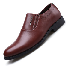 Whoholl Brand New Men Dress Shoes Formal Mens Handmade Business Wedding Big Size Patent Leather Slip-on Male