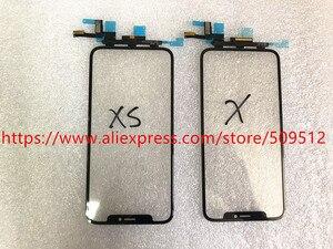 Image 4 - 1 قطعة شاشة اللمس الأصلي الجبهة الخارجي الزجاج لوحة مع الكابلات المرنة OCA آيفون X XS ماكس XR 11 11Pro ماكس استبدال أجزاء