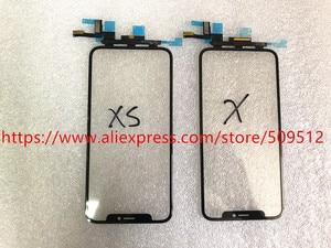 Image 4 - Pannello di vetro esterno anteriore Touch Screen originale 1pcs con cavo flessibile + OCA per iPhone X XS XS Max XR 11 11Pro max parti di ricambio