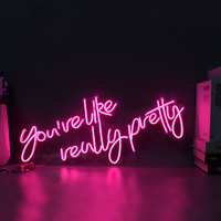 Custom Neon Sign Logo You Are Like Really Pretty Waterproof Led Flex Visual Bar Wall Light Up Sign Neon Decor Neonlamp for Room