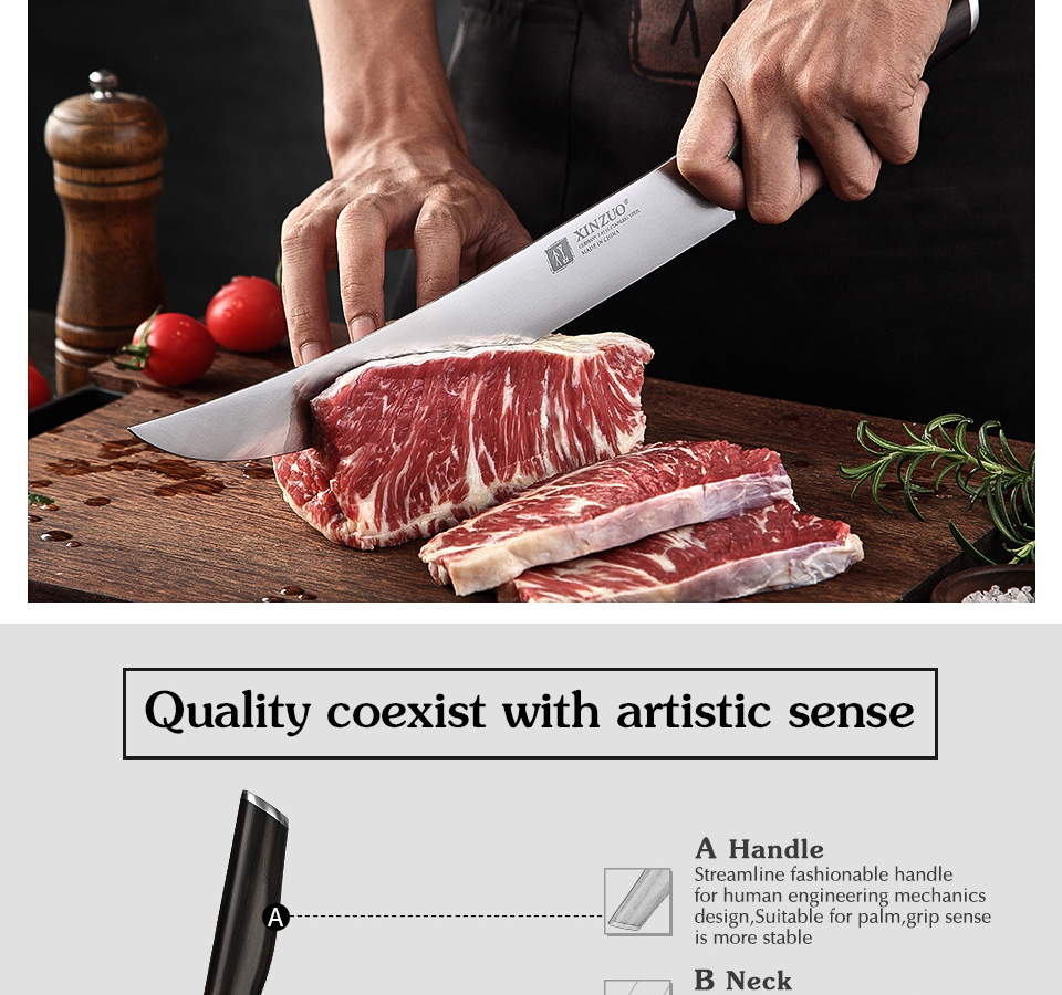 Xinzuo 10 Inch Slicing Knife Din 1 4116 Stainless Steel Sharp Cleaver Slicing Steak Paring Utility Vegetable Home Kitchen Knife Kitchen Knives Aliexpress