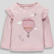 Детские футболки для От 1 до 7 лет и девочек Повседневная футболка из хлопка новинка года, милые футболки с героями мультфильмов для маленьких девочек