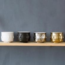 Nordic Potted Plants Flower Pot Man Face Vase Home Decoration Accessories Ceramic for Succulents Planting