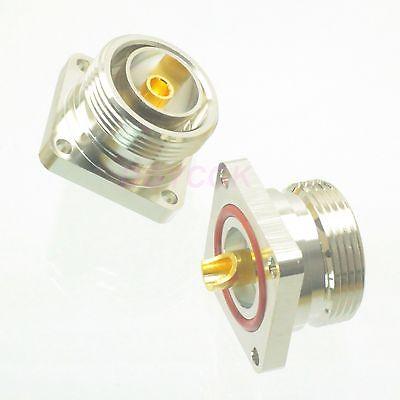 Tüketici Elektroniği'ten Pil Aksesuarları'de DHL/EMS 40 adet konnektör 7/16 DIN dişi jack flanş lehim kupası güverte dağı düz F h2 title=