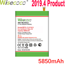 WISECOCO 5850mAh C11P1611 Battery For ASUS Zenfone 3 Max Z3 MAX ZC520TL PegASUS X008 X008D Z01B Mobile Phone+Tracking Number