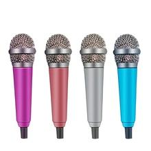цена на Mini 3.5mm Portable Microphone Condenser Mic KTV Karaoke Microphone For Smart Phone Laptop PC Handheld Audio Microphone