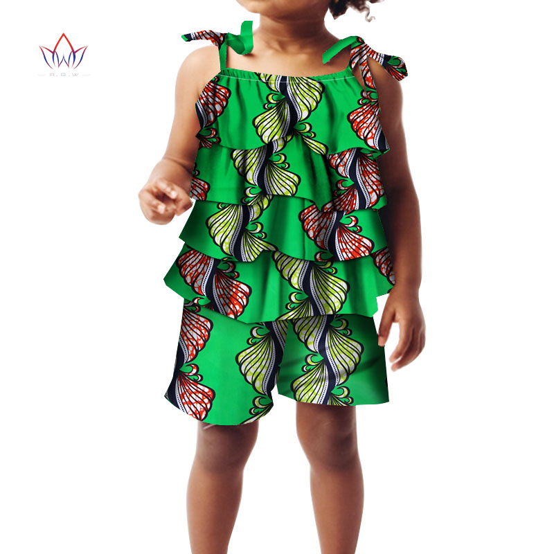 2020 African Clothing For Childrenl Kids Dashiki Traditional Cotton Set Matching Africa Print T Children Summer BRW WYT24