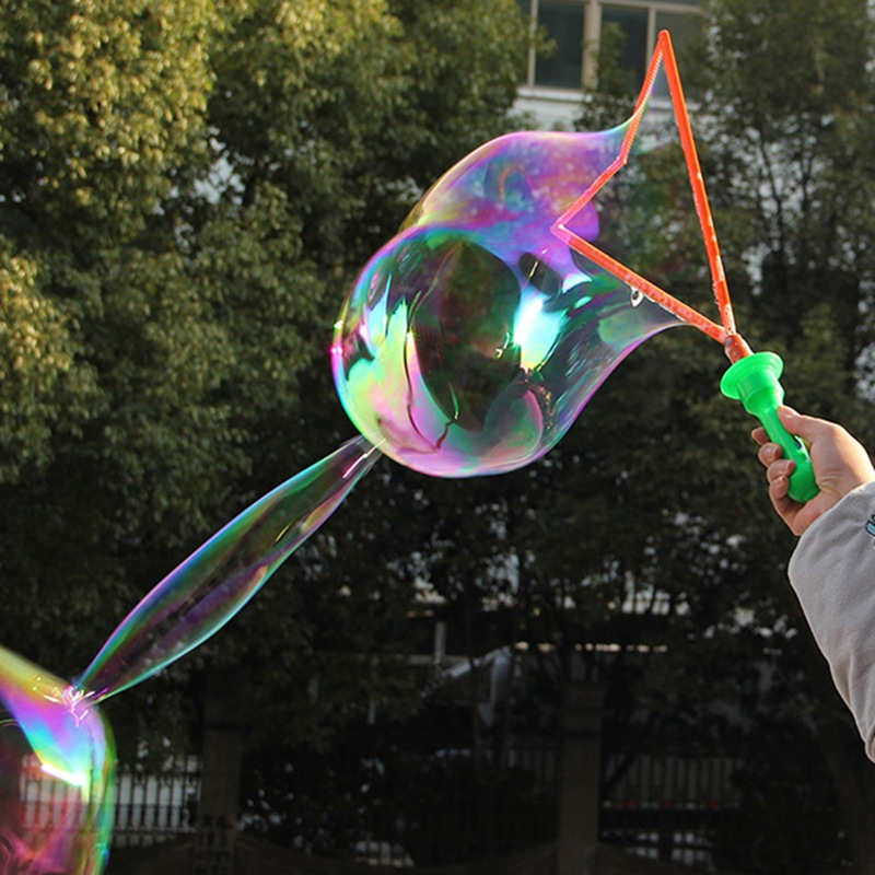 Children Play Outdoors Large Bubble Toy 46CM Sword Park Plaza Blowing Bubbles Wand Fencing Random Colors