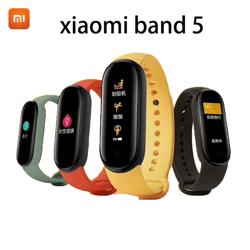 Xiaomi Mi Band 5 Smart Bracelet 4 Color Touch Screen Miband 5 Wristband Fitness Blood Oxygen Track Heart Rate Monitor Smartband image