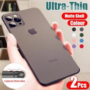 Роскошный 0,26 мм ультра тонкий PP чехол для айфон 11 Pro макс X XR XS матовый чехол для телефона айфон 7 8 6 6s PLus полные противоударные чехлы