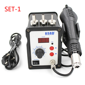 Image 2 - 858D+ 220V Hot Air Gun 700W ESD Soldering Station LED Digital Heat Gun Desoldering Solder Station Upgrade From 858D Air Nozzles