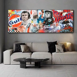 Classicm move Rock and speed Racing is life Race Car Artwork Wall Art Picture Print Canvas Painting For Home Living Room Decor