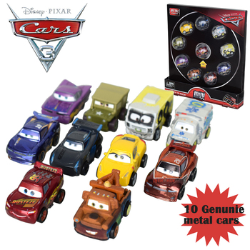 Oryginalne oryginalne samochody disney pixar 3 Mini Metal Diecasts 10 sztuk pojazdy zabawkowe zygzak mcqueen Storm Jackson zabawki dla chłopca FLG72 tanie i dobre opinie 3 lat 1 55 Away from fire Samochód