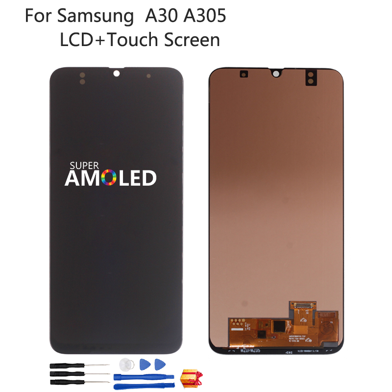 For <font><b>Samsung</b></font> Galaxy <font><b>A30</b></font> A305 A305F A305FN/DS <font><b>LCD</b></font> Display Touch <font><b>Screen</b></font> Digitizer Assembly Incell Amoled For <font><b>SAMSUNG</b></font> <font><b>A30</b></font> <font><b>LCD</b></font> <font><b>Screen</b></font> image