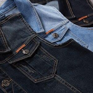 Image 2 - Plus Größe 8XL 7XL 6XL 5XLCotton Jeans Ärmellose Jacke Weste Männer Denim Jeans Weste Männlichen Cowboy Freien Weste Herren jacken