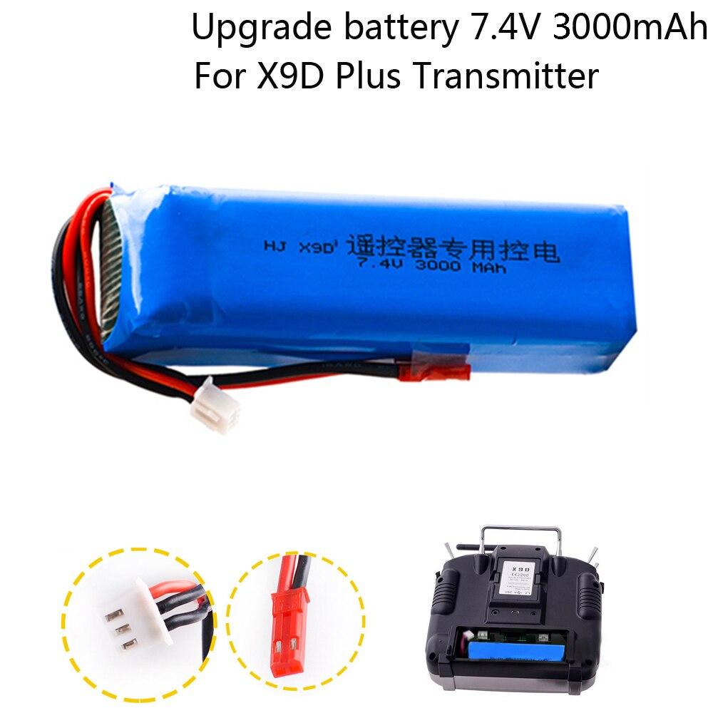 2S 7.4V 3000mAh LiPO Battery Pack for Frsky Taranis X9D Plus 2019 Transmitter